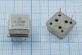 Кварцевый генератор 22.5792МГц 3.3В, HCMOS/TTL в корпусе HALF=DIL8, гк 22579,2 \\HALF\T/CM\3,3В\OSC8\SDE