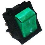 A14B1Y11, Переключатель зеленый с подсветкой ON-OFF (16A/250VAC) 4P