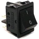 A14B1H10, Переключатель черный без подстветки ON-OFF (16A/250VAC) 4P