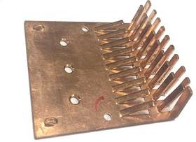 Медный радиатор 65 х 60 х 20 мм