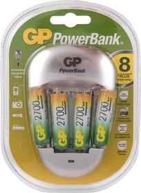 Фото 1/2 PB27, Устройство зарядное 1-4 AA/AAA Ni-MH + USB, 4 аккумулятора AA 2700mah