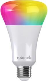 Фото 1/2 RUBETEK RL-3103, Лампа светодиодная RGB c Wi-Fi, 7Вт,220В,Е27,6000К, Умный дом