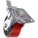 Фото 2/2 Большегрузное колесо с полиуретановой шинкой С-4102-DUS поворотное, с тормозом, г/п 600 к 00018526