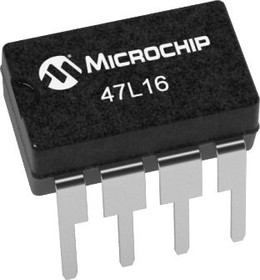 47L16-I/P, NVRAM, EERAM, 16 Кбит, 2К x 8бит, I2C, DIP