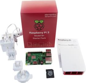 RPI3-MODBP-STARTER, Стартовый комплект: Raspberry Pi 3 Model B+, БП, Корпус, 16GB micro SD card