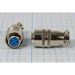 Фото 2/2 Гнездо на кабель с двумя контактами (ответный штекер на панель XS12K2P-M), №296 гн ЦС\ 2P\B12\каб\\XS12K2P-F