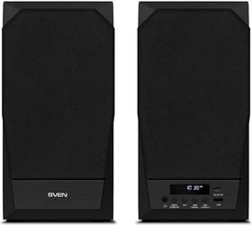 SVEN MC-20, чёрный, акустическая система 2.0, мощность 2x45Вт (RMS), FM-тюнер, USB/microSD, дисплей, пульт ДУ, Bluetooth, Optical, SVEN MC-2
