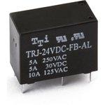 TRJ-12VDC-SA-AL-R, Реле 1зам. 12V / 5А, 250VAC