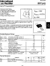 Datasheet IRF9510 производства IRF.