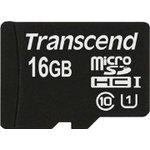 Карта памяти microSDHC UHS-I TRANSCEND Premium 16 ГБ ...