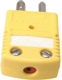 OSTW-CC-KI-M-ROHS, Thermocouple Connector, OSTW Series, Integral Cable Clamp Cap, Type K, Plug