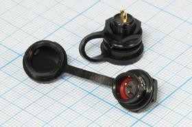 Фото 1/2 Штекер герметичный на панель,два контакта,(ответная часть на кабель SA811/P2), №14968 шт ЦС\ 2P\B 9,3\пан/внутр рез\герм\SA812/P2[мет]