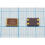 Кварц 13.56МГц в корпусе SMD 7x5мм с четырьмя выводами, нагрузка 16пФ ...