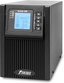 Фото 1/3 UPS POWERMAN Online 1000, LCD, dual conversion, 1000VA, 900W, 2 eurosockets with backup power, USB, RS232, SNMP slot, protection RJ11 / RJ45