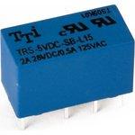 TRS-5VDC-SB-L15-R (TRSB-5VDC-SB-L15-R), Реле сигнальное 5VDC / 0.5A 125VAC, 2 переключающих контакта