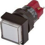 D16LMS1-1abKW, Кнопка без фиксации (5A 250VAC), LED подсветка 24VDC