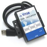 USB-ISO-M, Изолированный повторитель USB, металлический корпус (-40°С ~ +70°C)