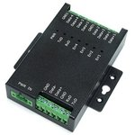SER-4485-SI-M, 4х портовый RS-485 хаб, сплиттер и повторитель с гальв. развязкой 3кВ и защитой от перенапряжения до