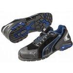 Rio Low Black 10, Aluminium Toe Trainers, UK, US 11