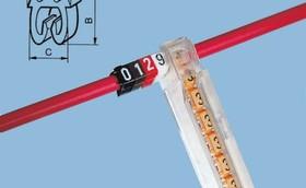 CAB3 Кольцо маркировочное 1.5-2.5мм (9) черное/белое (1200шт)