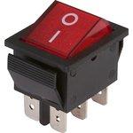 IRS-202-1A3 красный, Переключатель с подсветкой ON-ON (15A ...