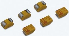 Фото 1/2 TAJT106K010RNJ, Cap Tant Solid 10uF 10V T CASE 10% (3.5 X 2.8 X 1.2mm) Inward L SMD 3528-12 3 Ohm 125°C T/R