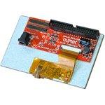 """Фото 2/2 LCD-OLinuXino-4.3TS, 4.3"""" LCD дисплей с подсветкой и резистивной сенсорной панели, совместим с платами OLinuXino"""