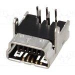 UB-M5BR-DM14-4D, Гнездо; USB B mini; на PCB; THT; PIN: 5; угловой 90°; USB 2.0