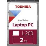 """HDD Toshiba SATA3 2Tb 2.5"""" L200 9.5mm 5400 128Mb RTL, Жесткий диск"""