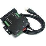 USB-4485-M, 4-портовый преобразователь USB в RS-485 с ...