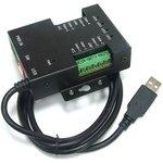 Фото 2/2 USB-4485-M, 4-портовый преобразователь USB в RS-485 с выходом питания, крепление на DIN-рейку