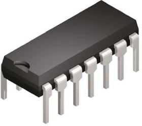 Фото 1/2 TLC2264CN, Операционный усилитель, четверной, 710 кГц, 0.55 В/мкс, ± 2.2В до ± 8В [DIP-14]