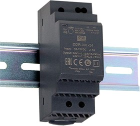 DDR-30L-24, DC/DC преобразователь, 30Вт, вход 18-75В,выход 24В/1.25А