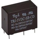 TRJ-12VDC-SA-CD-R, Реле 1пер. 12V / 5А, 250VAC