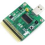 Фото 5/5 CY7C68013A USB Board (type A), Высокоскоростной USB модуль со встроенным 8051 ядром, разъемом USB-A