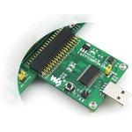 Фото 3/5 CY7C68013A USB Board (type A), Высокоскоростной USB модуль со встроенным 8051 ядром, разъемом USB-A