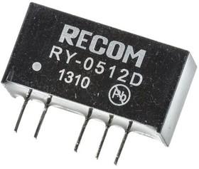 RY-0512D, DC/DC CONVERTER,5VIN,+/-12VOUT 42MA,1W