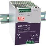 WDR-480-24, Блок питания, вход:1-2х фазное 180-550В, выход 24В,20А,480Вт