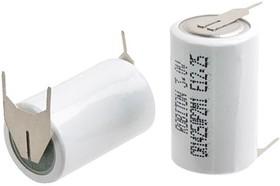 Фото 1/2 CR14250P2M1 (1/2AA), Элемент питания литиевый 650 mAh,14.5х25(1шт) 3В с плоскими выводами под пайку