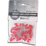 K/LEDHR, Набор светодиодов (50шт.) красный