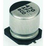 Фото 2/2 EEEFC1E471P, SMD электролитический конденсатор, Radial Can - SMD, 470 мкФ, 25 В, Серия FC, 1000 часов при 105°C