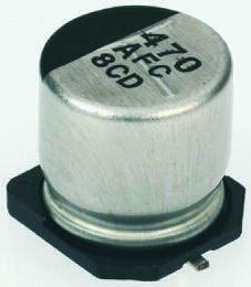 Фото 1/2 EEEFC1V221P, Cap Aluminum Lytic 220uF 35V 20% (10 X 10.2mm) SMD 670mA 1000h 105C Automotive T/R