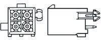 1-770875-0, Conn Power HDR 6 POS 4.14mm Solder ST Thru-Hole 6 Terminal 1 Port Bag