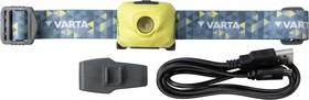 Фото 1/3 18631201401, Фонарь налобный аккумуляторный Outdoor Sports Ultralight H30R lime