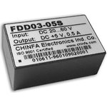 FDD03-05S2, DC/DC преобразователь, 3Вт, вход 18-36В ...
