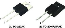Фото 1/3 VS-ETU3006FP-M3, Rectifier Diode Switching 600V 30A 45ns 2-Pin(2+Tab) TO-220FP Tube