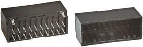 1-1827872-5, Разъем типа провод-плата, 2 мм, 30 контакт(-ов), Штыревой Разъем, Dynamic D-1100D Series