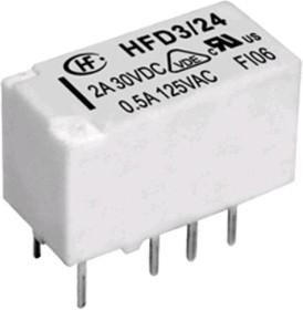 HFD3/24 (D3212), Реле 2пер., 24VDC/ 2A, 277VAC