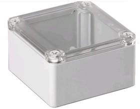 SABP101006T, Корпус для РЭА, 100х100х60мм, пластик, ABS, серый, прозрачная крышка