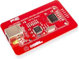 Фото 1/2 USB I2S преобразователь 16bit/48kHz, PCM2706, Преобразователь: USB - I2S. Разрешение 16 бит, частота дискретизации 48кГц